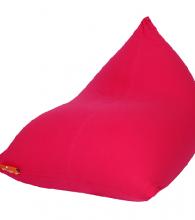 פוף צורת פירמידה מבד צבע אדום