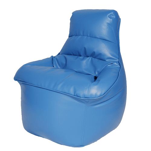 פוף כורסה דמוי עור צבע כחול רויאל